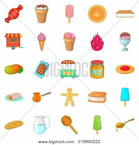Baking from cook icons set. Cartoon set of 25 baking from cook vector icons for web isolated on white background
