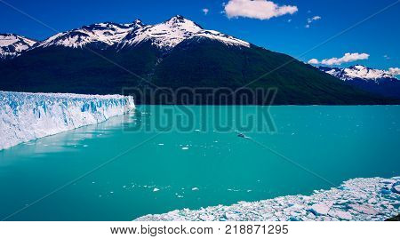 The Perito Moreno Glacier in El Calafate Argentina