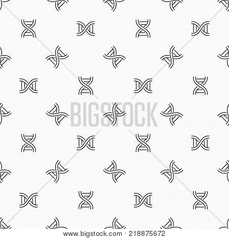 Deoxyribonucleic acid vector seamless pattern. Concept DNA background