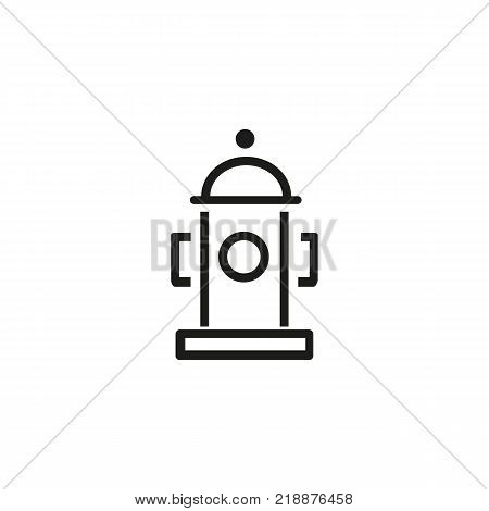 Line icon of fire hydrant. Fire safety, emergency, fire prevention. Water concept. Can be used for signboards, warning signs, posters