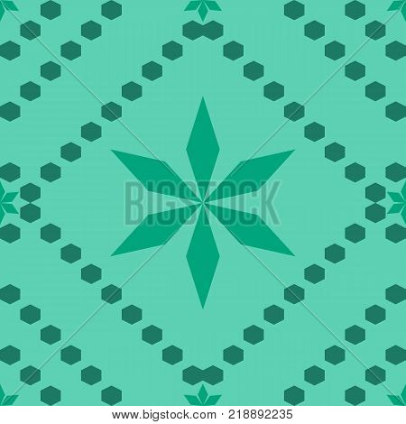 Seamless pattern with green and blue Stars of David. Jewish symbol geometric Hexagon on white light background. duo tone multiply