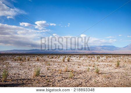 Wild desert landscape in San Pedro de Atacama Chile