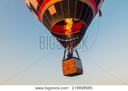 Colorful Hot Air Balloon Early In The Morning