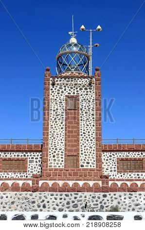 Entallada Lighthouse near Las Playitas in Fuerteventura Island, Spain