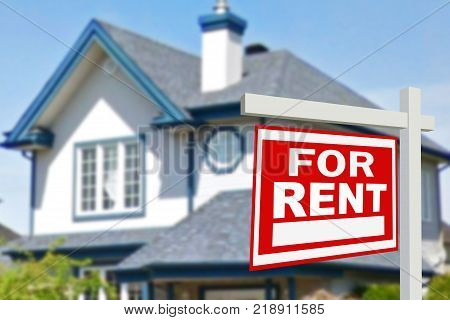 Home For Rent. Sign