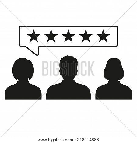 Customer reviews, rating, user feedback icon. Business concept rating pictogram