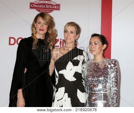 LOS ANGELES - DEC 18:  Laura Dern, Kristen Wiig, Hong Chau at the