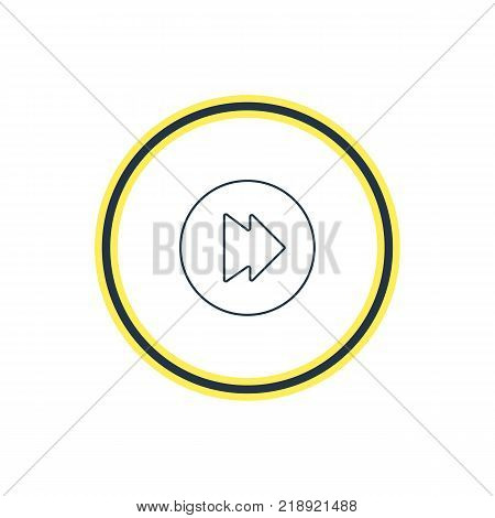 Vector illustration of forward icon line. Beautiful melody element also can be used as advanced  element.