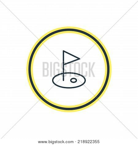 Vector illustration of pennant icon line. Beautiful athletic element also can be used as golf element.