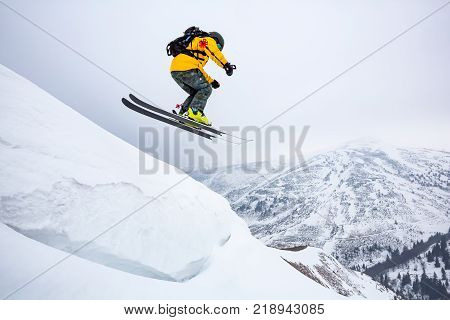 Good Skiing In The Snowy Mountains.