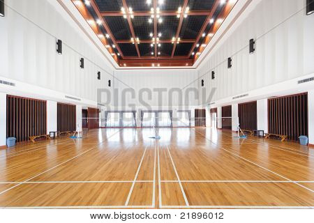 Empty sports court poster