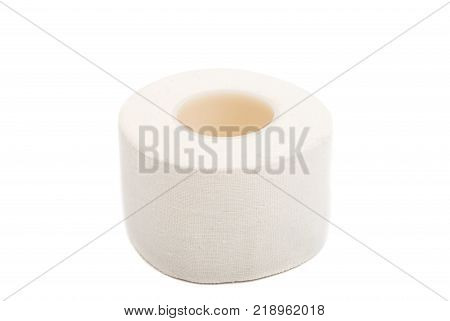 Adhesive bandage sticking plaster isolated over white background