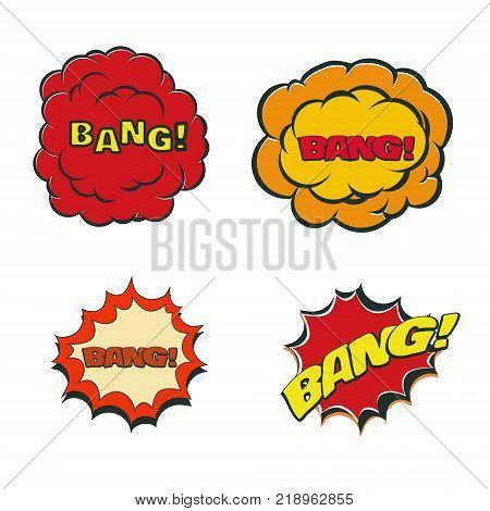 Bang blast flash comics blow isolated on white vector illustration