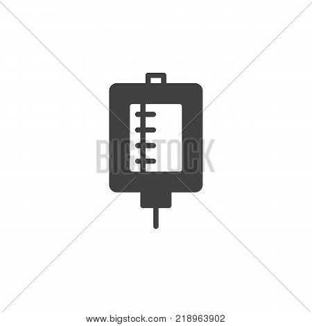Medical drop counter icon vector, filled flat sign, solid pictogram isolated on white. Blood transfusion symbol, logo illustration