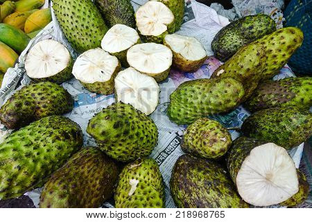 Soursop Fruits At Local Market In Vietnam