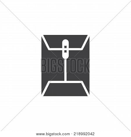 Envelope email attachment icon vector, filled flat sign, solid pictogram isolated on white. Message paper document clip symbol, logo illustration.