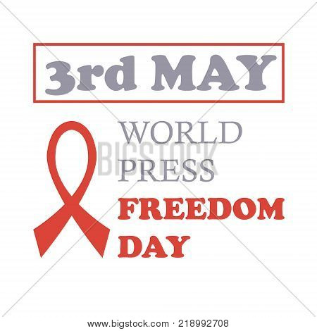 World press freedom day.  illustration. 3rd may