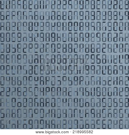 Blue alien, incomprehensible computer code. Abstract background. Hacker attack. Generated computer code concept