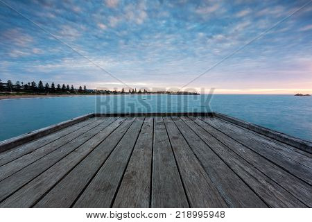The Port Elliot Jetty / pier located in Horseshoe Bay on the Fleurieu Peninsula.