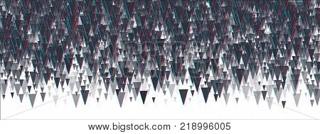 Abstrackt triangle background.  Vector distorted glitch effect. Chromatic aberration style. massive attack