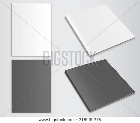 Blank closed magazine newspaper vector mockup magazine template vector. Folder Closed vector