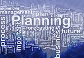 Background concept wordcloud illustration of planning international poster