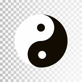 Yin Yang symbol. Vector icon of harmony and balance, yinyang sign isolated on transparent background. EPS 10 poster