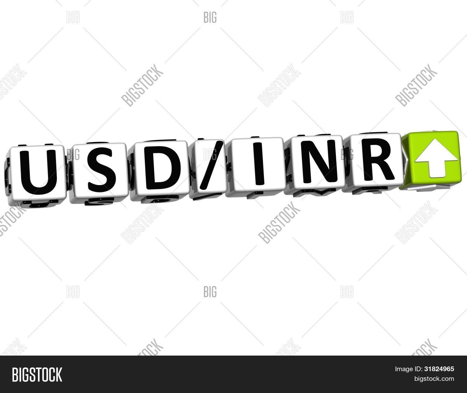 3d Currency Usd Inr Image Photo Free Trial Bigstock