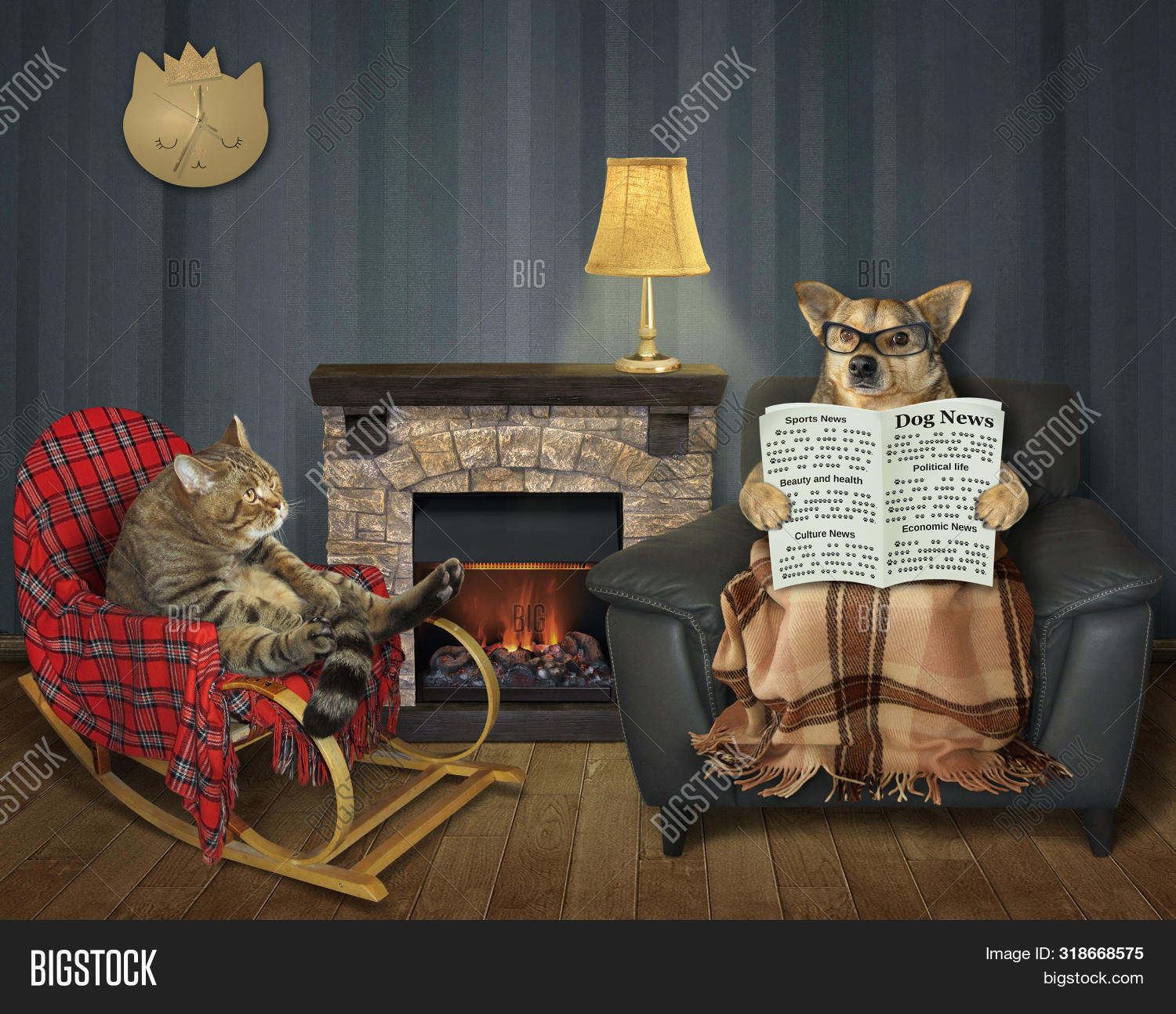 Terrific Cat Wooden Rocking Image Photo Free Trial Bigstock Squirreltailoven Fun Painted Chair Ideas Images Squirreltailovenorg