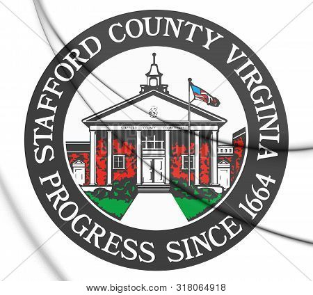 3d Seal Of Stafford County (virginia), Usa. 3d Illustration.
