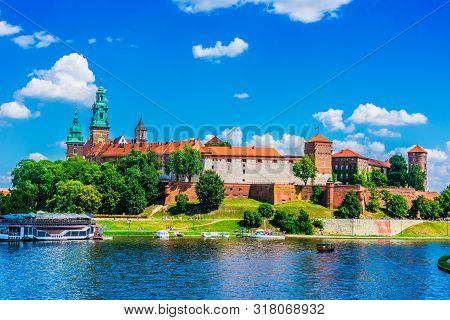 View of Wawel Castle in Krakow, Poland poster