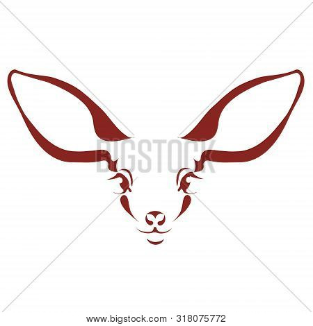 Silhouette Of Roe Deer. Represented In Circle. The Image Can Be Used As A Logo. Ecology. Preservatio