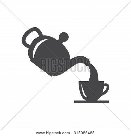Serving Tea Icon Isolated On White Background. Serving Tea Icon In Trendy Design Style For Web Site