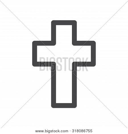 Cross Icon Isolated On White Background. Cross Icon In Trendy Design Style For Web Site And Mobile A