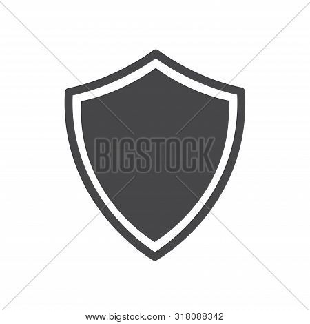 Shield Icon Isolated On White Background. Shield Icon In Trendy Design Style For Web Site And Mobile