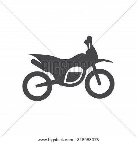 Single Motorbike Icon Isolated On White Background. Single Motorbike Icon In Trendy Design Style For