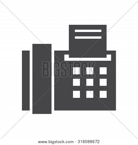 Office Fax Icon Isolated On White Background. Office Fax Icon In Trendy Design Style For Web Site An