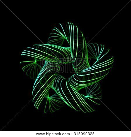 3d Abstract Creative Background Or Decoration Element. Abstract Geometric Star. Information Technolo