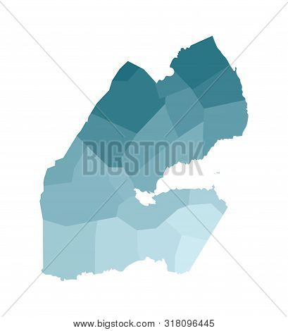 Vector Isolated Illustration Of Simplified Administrative Map Of Djibouti. Borders Of The Districts