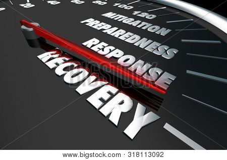 Emergency Mitigation Preparedness Response Recovery 3d Illustration