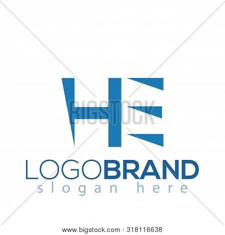He Initial Letter Logo Vector Element. Initial Letter Logo Template