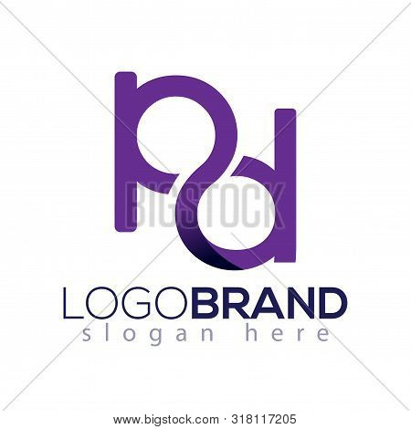 Pd Initial Letter Infinity Logo Element. Initial Letter Logo Template