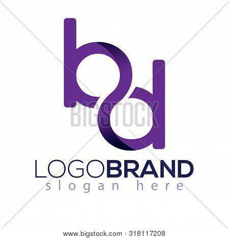 B D Initial Letter Infinity Logo Element. Initial Letter Logo Template
