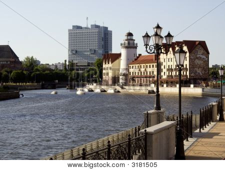 Embankment View In Kaliningrad City Russia