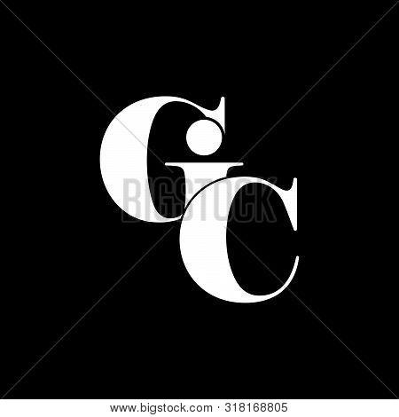 Letter Gic Simple Geometric Linked Logo Vector