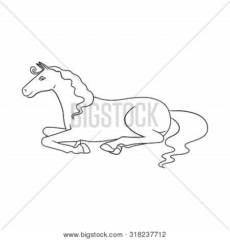 Vector Design Of Steed And Brown Sign. Collection Of Steed And Brown Vector Icon For Stock.