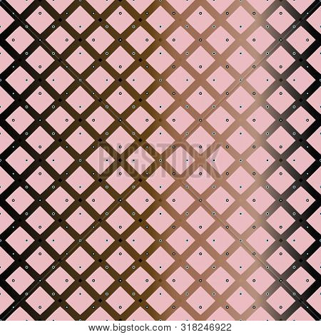 Vector Illustration Of Stylized Stars, Hexagons, Eyelets, Studs And Criss-crossed Lattice In Pink, C