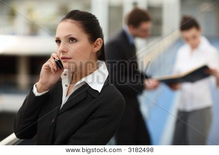 Atractive Woman With Phone