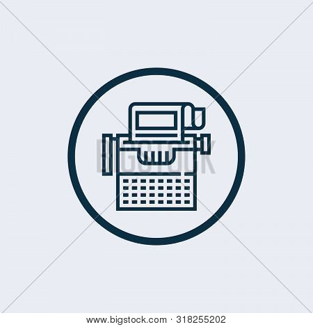 Typewriter Icon Isolated On White Background. Typewriter Icon Simple Sign. Typewriter Icon Trendy An