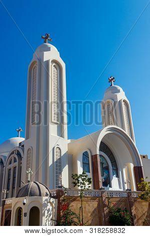 Facade Of Coptic Orthodox Church In Hurghada, Egypt